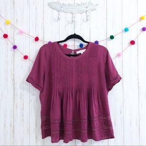 LOFT peasant blouse